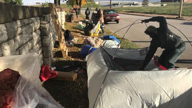 City forces homeless encampment in St. Louis to move, amid some protest