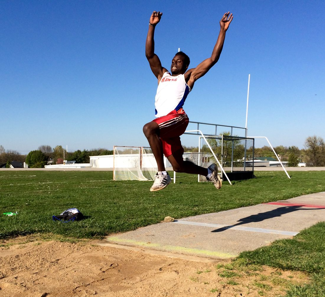 Valley Park Junior Daniel Dailey Practices His Long Jump At Practice Rockwood South Middle School In Fenton Missouri On April 13 2017