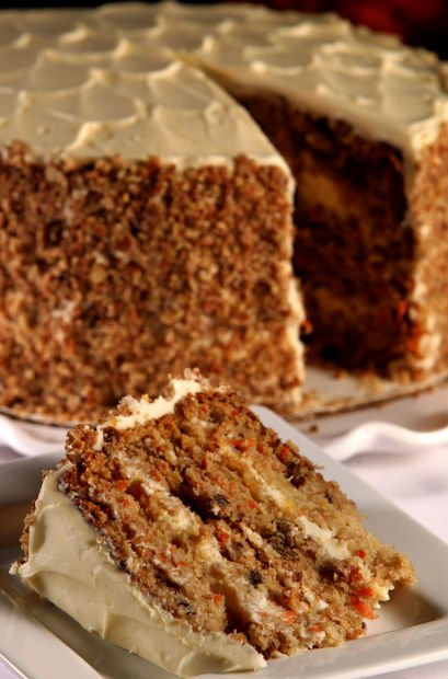 Special request: carrot cake atop Queeny Tower