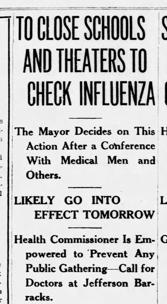 1918 Spanish flu headlines