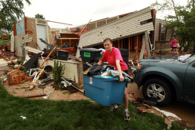 Storm damage in St. Charles