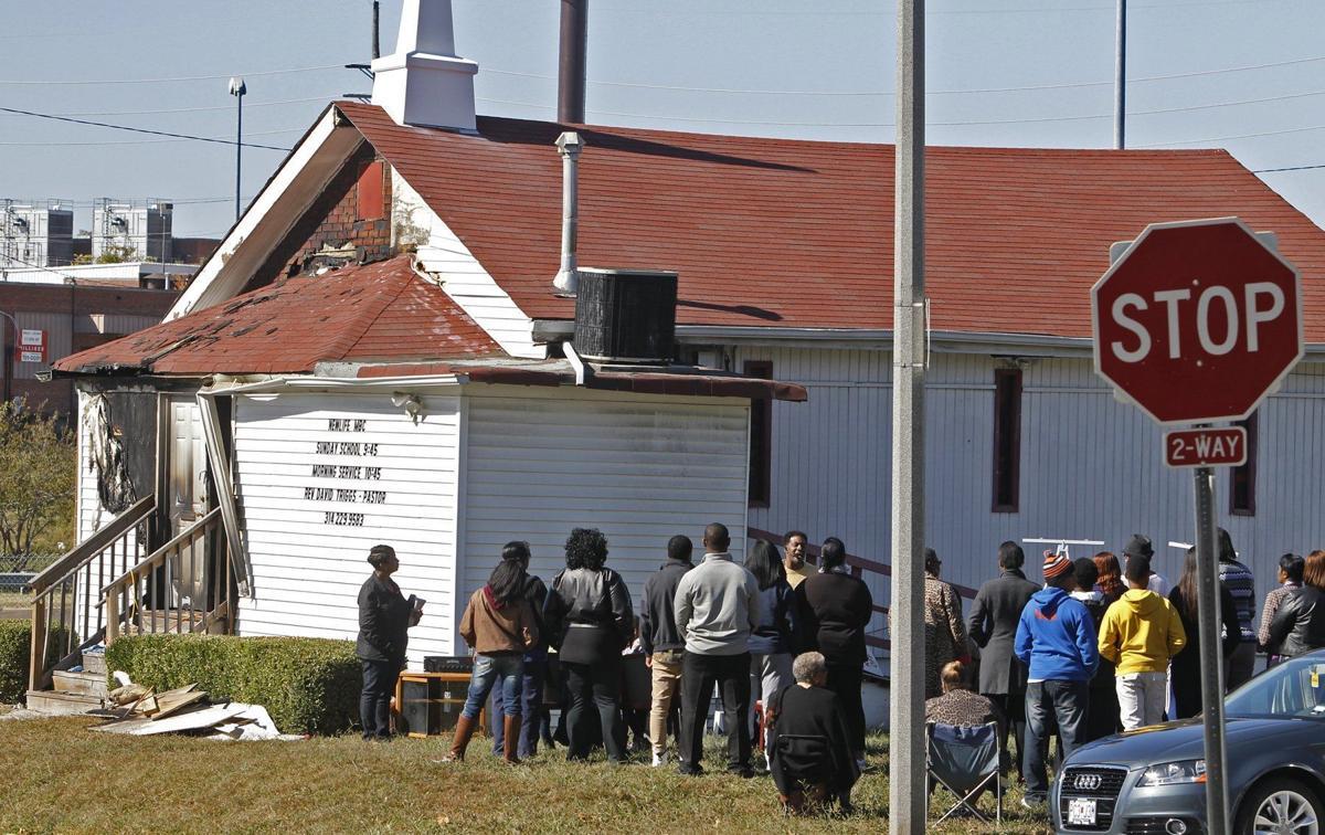 Church service goes on dispite arson fire