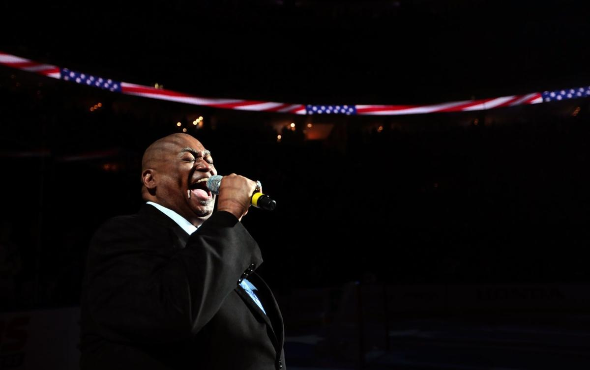 Charles Glenn, Blues' king of the national anthem