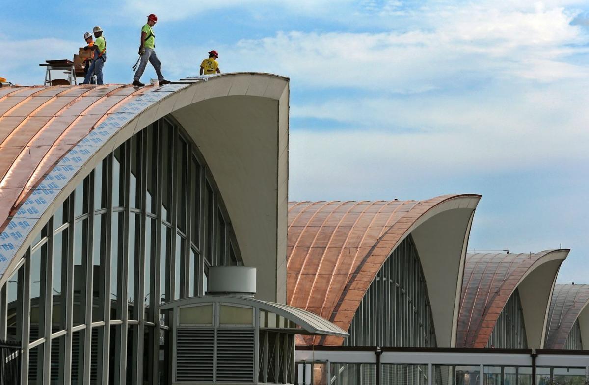 Main Lambert Terminal Gets Shiny New Roof Metro