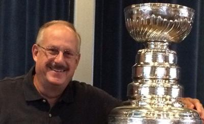 Greg Kornfeld with the Stanley Cup