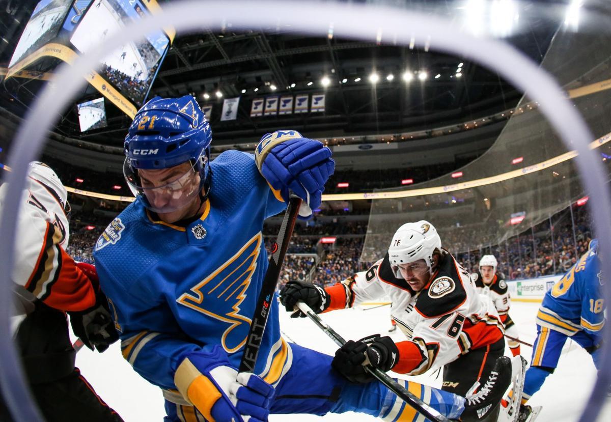 Photos: Blues lose to Ducks 4-1