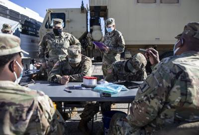 National Guard administers COVID-19 tests in St. Charles