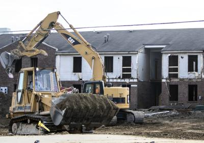 Demolition of Preservation Square apartments in St. Louis