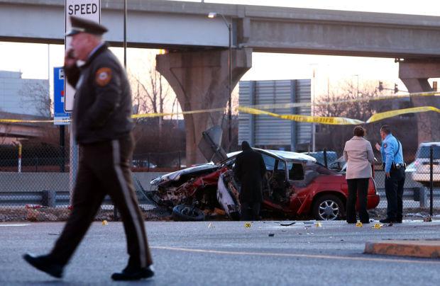 Police shooting after crash