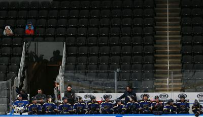 Blues hold first scrimmage at Enterprise
