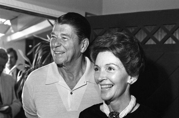 Ronald Reagan, Nancy Reagan in 1976