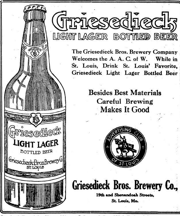 advertisement for Griesedieck Bros.