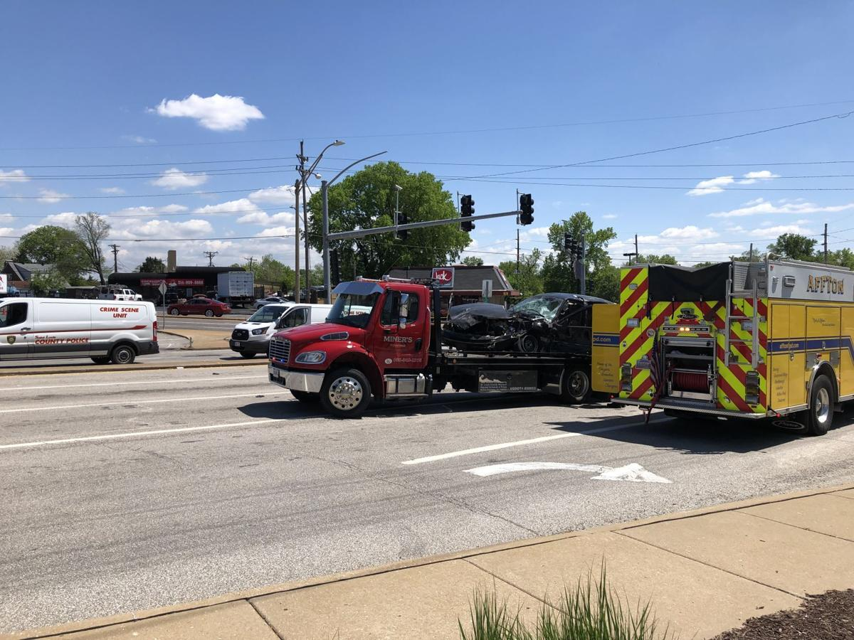 Four-vehicle accident
