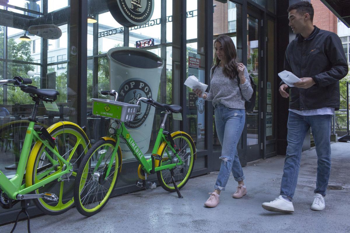 LimeBike bike share in Seattle