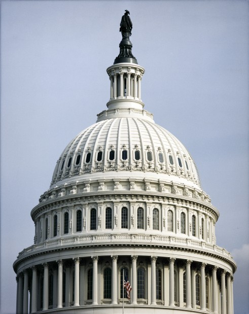A view of the U.S. Capitol dome.