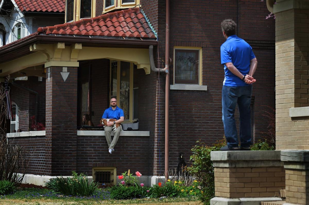 Porch talk, social distancing
