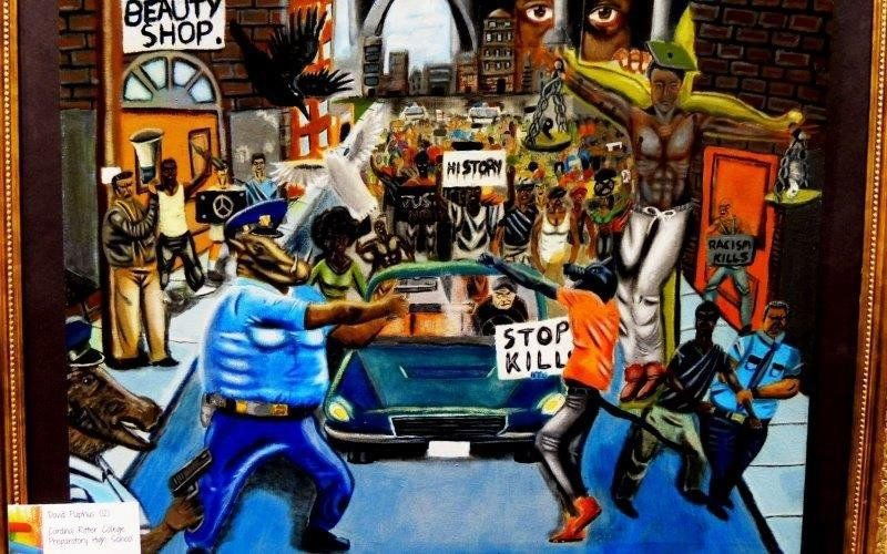 Controversial Painting By Teenage St Louis Artist Goes Up Down And Up Again At U S Capitol Complex Political Fix Stltoday Com