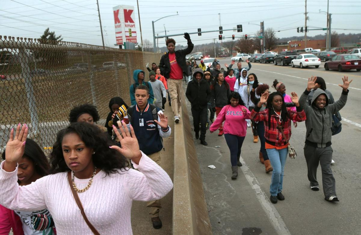 McCluer North, North Technical High students walk out, march to Ferguson