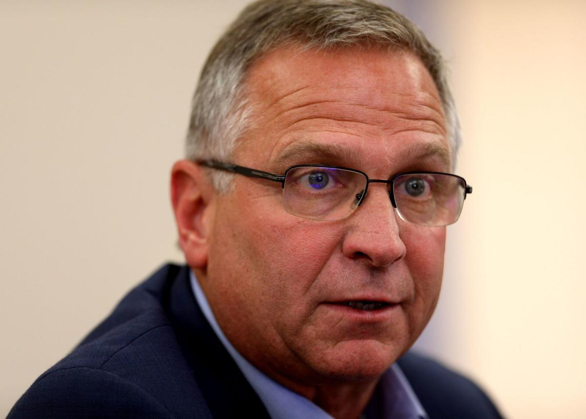 Rep. Mike Bost speaks with P-D editorial board