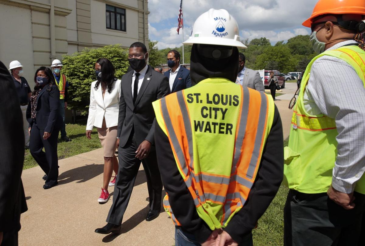 EPA chief tours city water plant
