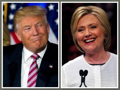 Donald Trump and Hillary Cllinton