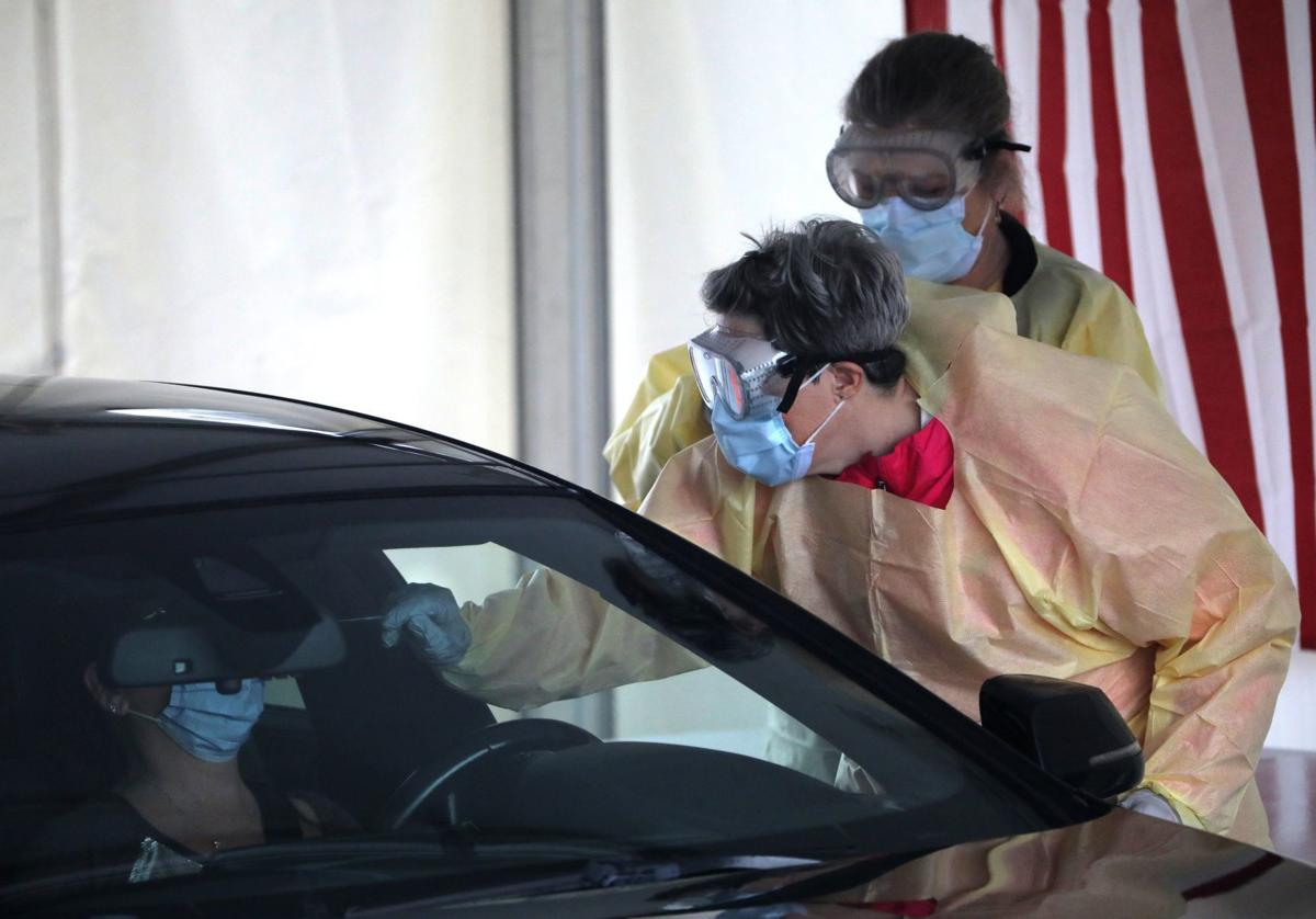Cronavirus testing continues at drive-thru site in Chesterfield