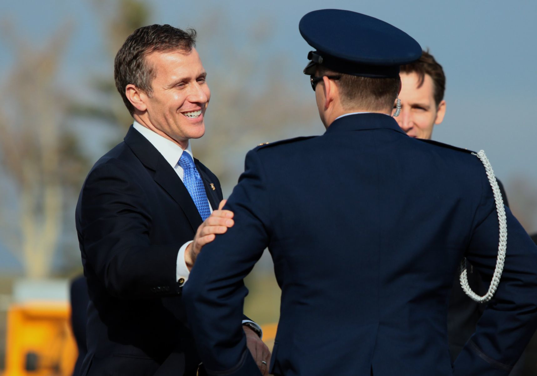 Greitens Hawley on hand for Trump visit