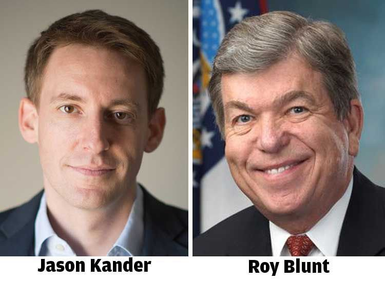 Jason Kander and Roy Blunt