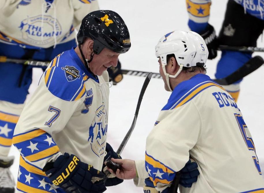 Garth Butcher with Berenson at Blues/NHL Alumni Game