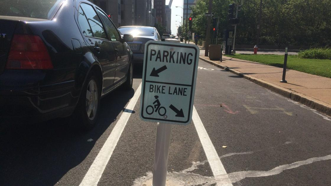 Clayton plans Maryland Avenue bike lanes separated from driving lanes by parked cars | Along for the Ride | stltoday.com