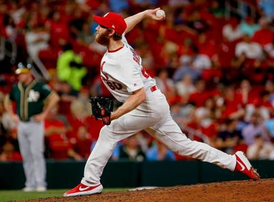 St. Louis Cardinals take on Oakland Athletics at Busch