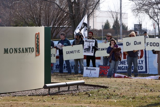 Protestors at Monsanto