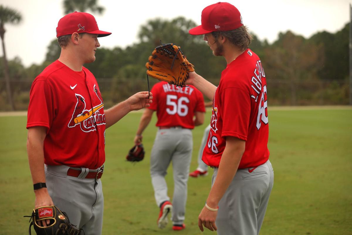 Rain shows during Saturday workout at Spring Training