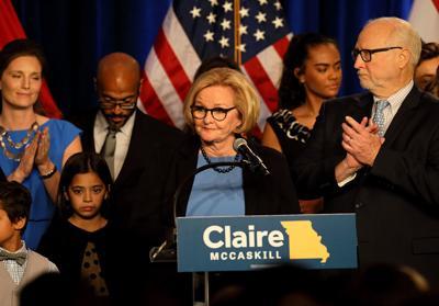 Sen. Claire McCaskill election night 2018