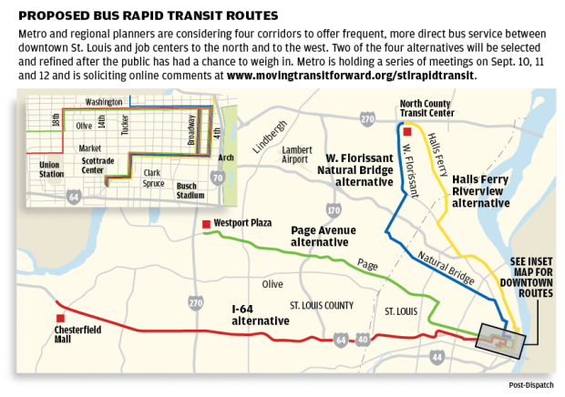 St Louis Regional Planners Look To Bus Rapid Transit To