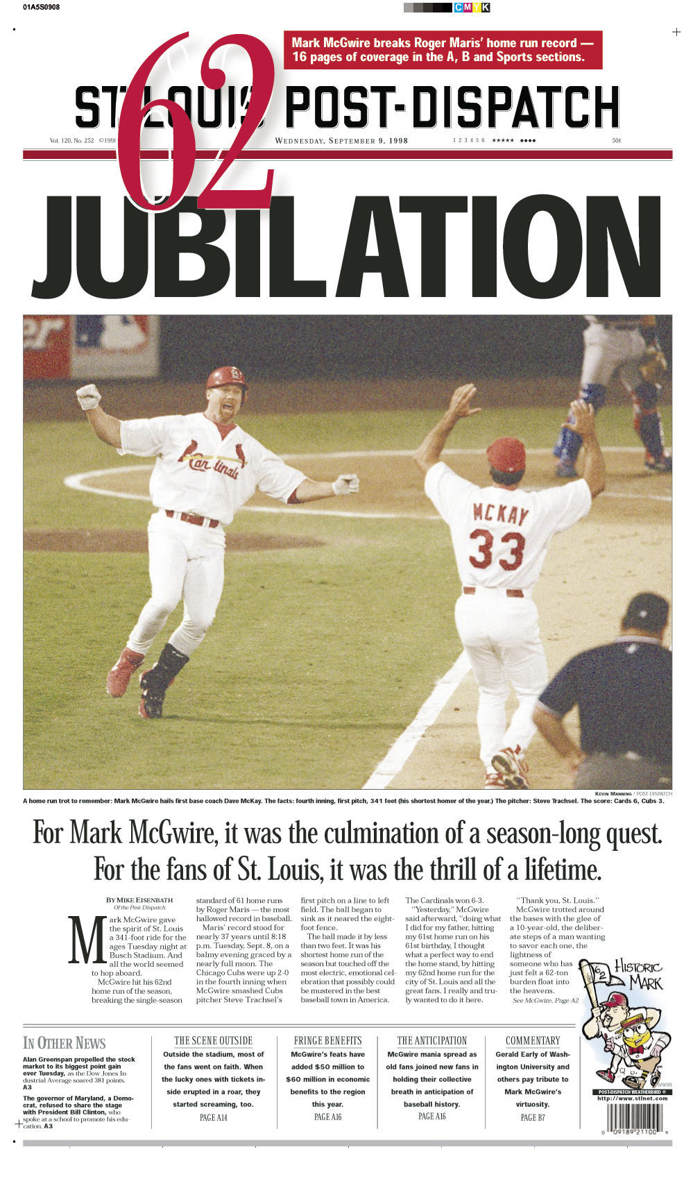 21 years ago: McGwire-mania became a front-page obsession