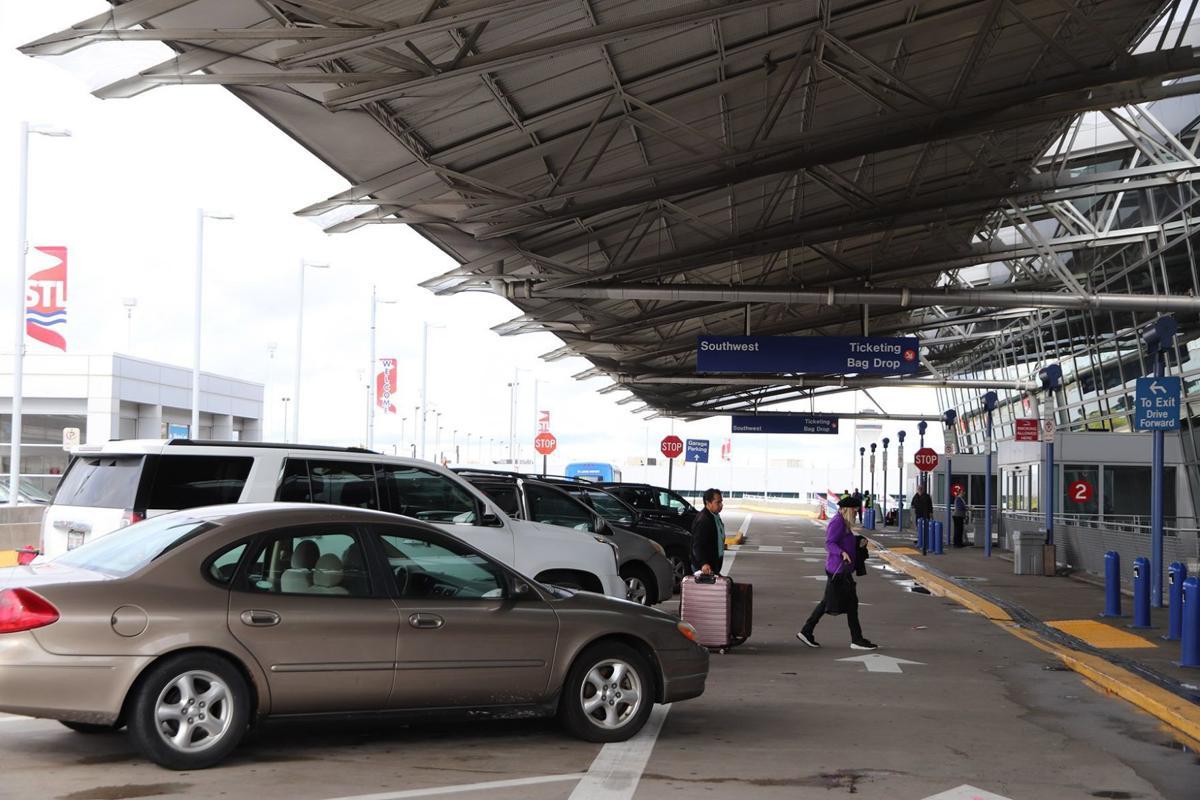 Passenger drop-off area at Lambert Airport