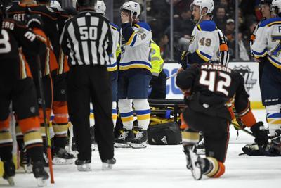 APTOPIX Blues Ducks Hockey