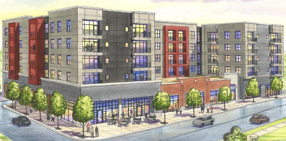 Captivating Rendering Of Apartments Proposed For 6300 Clayton