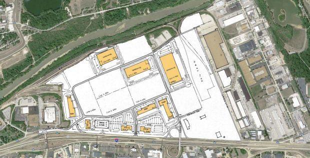 Site plan for former Chrysler plant site in Fenton