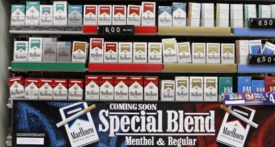 Display of Phillip Morris cigarettes