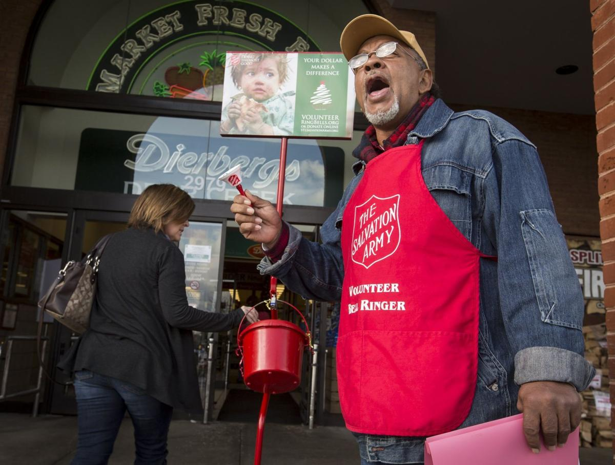 Salvation Army bell ringer Keith Crumes