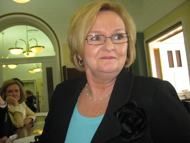 Missouri Sen. Claire McCaskill, a Democrat, outside the Senate chamber last year. She can expect a tight re-election contest, a poll shows.