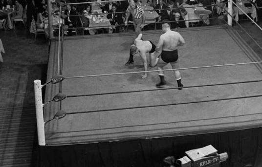 "A scene from ""Westling at the Chase' in the early 1960s"