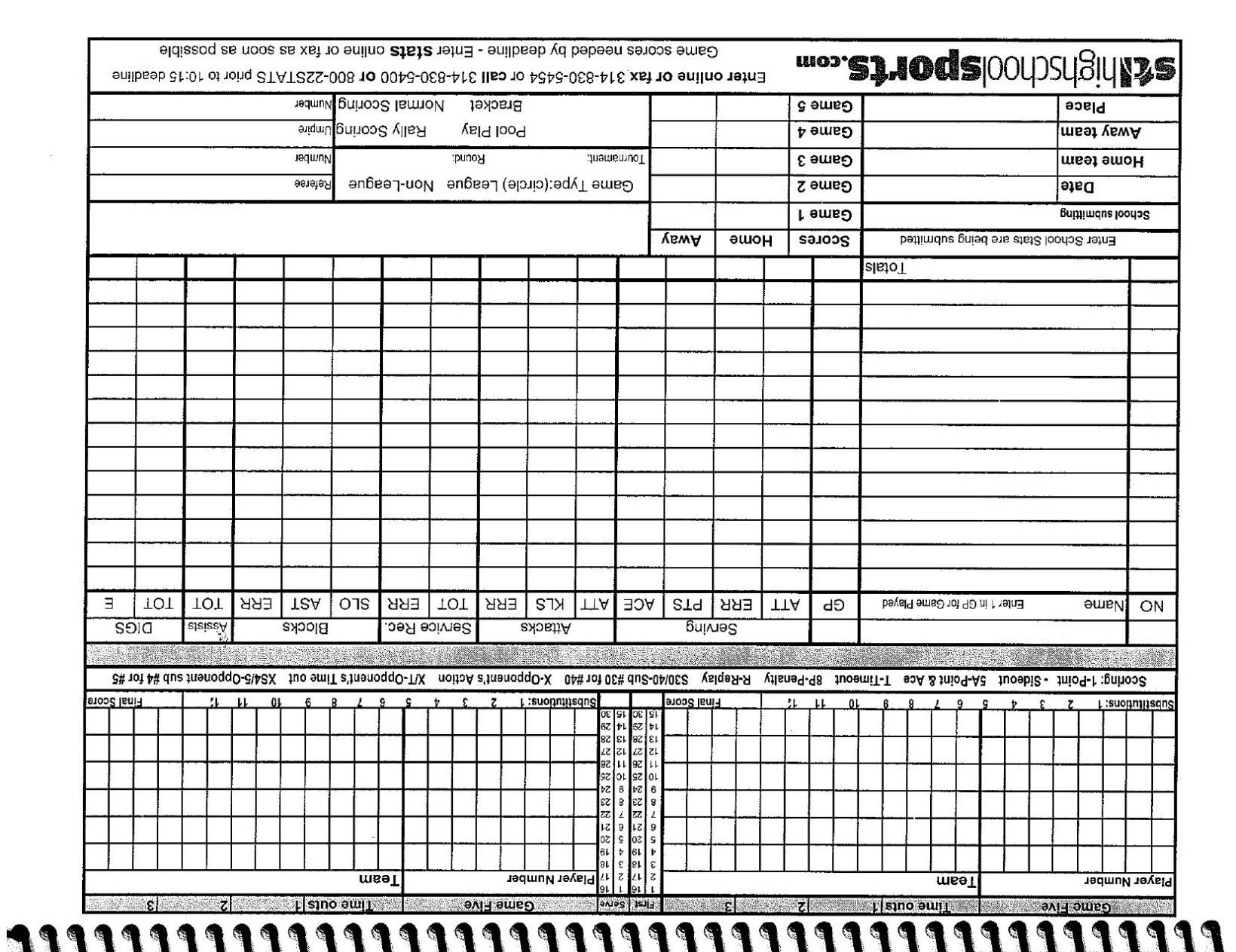 photo regarding Volleyball Stat Sheets Printable called Volleyball rating and figures sheet Coaches corner