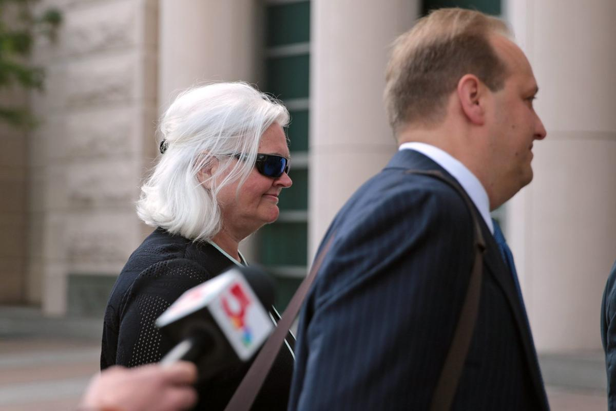 Sweeney arrives at Eagleton Courthouse