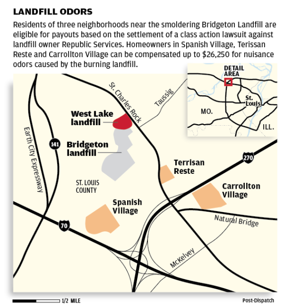 Bridgeton Landfill Lawsuit Settlement map