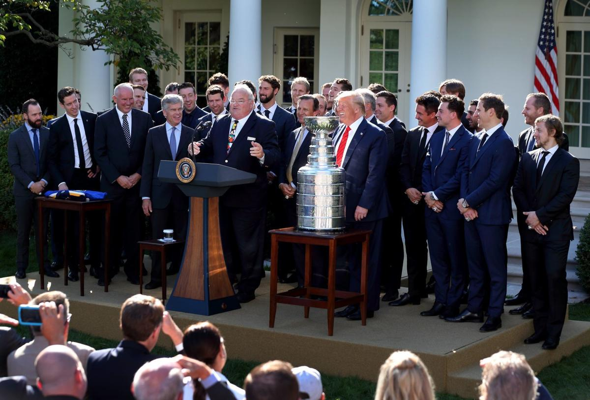 St. Louis Blues visit President Trump at White House with Stanley Cup
