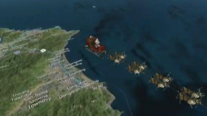 NORAD tracks Santa auf seiner Reise um die Welt