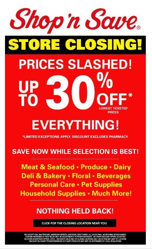 Shop 'n Save 30 percent off